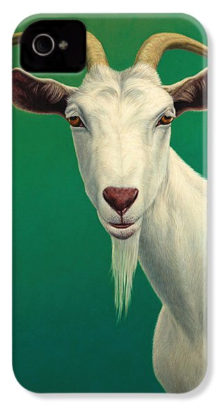 Portrait Of A Goat IPhone 4 / 4s Case by James W Johnson