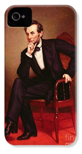 Portrait Of Abraham Lincoln IPhone 4 / 4s Case by George Peter Alexander Healy