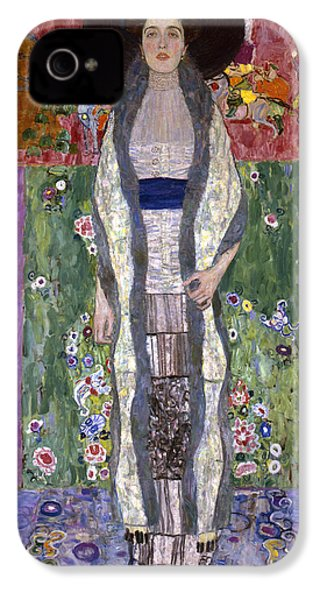 Portrait Of Adele Bloch-bauer II IPhone 4 / 4s Case by Gustav Klimt