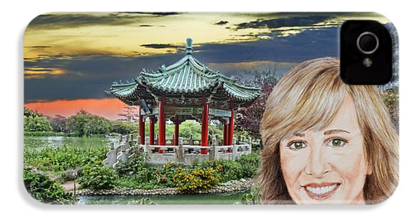 Portrait Of Jamie Colby By The Pagoda In Golden Gate Park IPhone 4 Case by Jim Fitzpatrick