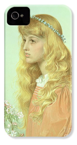 Portrait Of Miss Adele Donaldson, 1897 IPhone 4 / 4s Case by Anthony Frederick Augustus Sandys