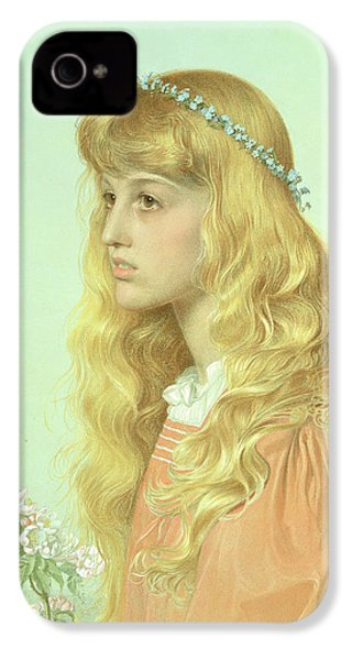 Portrait Of Miss Adele Donaldson, 1897 IPhone 4 Case by Anthony Frederick Augustus Sandys