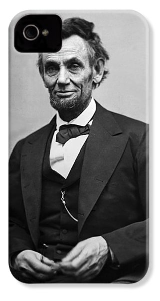 Portrait Of President Abraham Lincoln IPhone 4 Case by International  Images