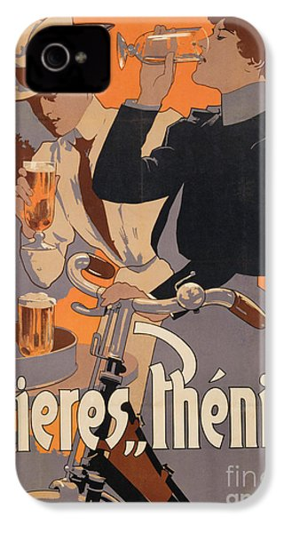 Poster Advertising Phenix Beer IPhone 4 Case by Adolf Hohenstein
