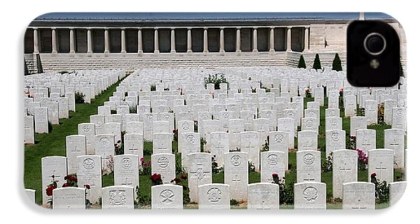 IPhone 4 / 4s Case featuring the photograph Pozieres British Cemetery by Travel Pics