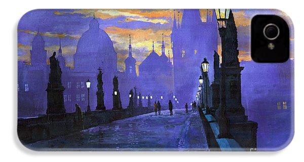 Prague Charles Bridge Sunrise IPhone 4 Case