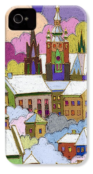 Prague Old Roofs Prague Castle Winter IPhone 4 Case by Yuriy  Shevchuk