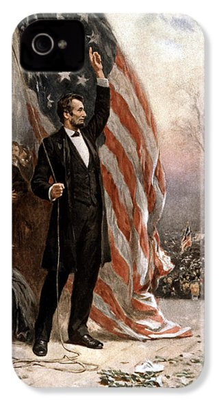 President Abraham Lincoln Giving A Speech IPhone 4 Case