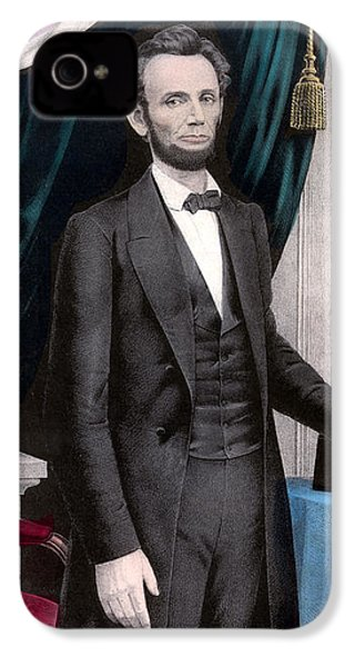 President Abraham Lincoln In Color IPhone 4 Case
