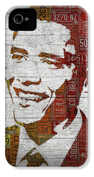 President Barack Obama Portrait United States License Plates IPhone 4 / 4s Case by Design Turnpike