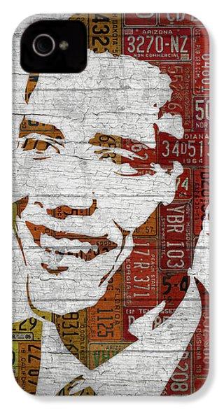 President Barack Obama Portrait United States License Plates IPhone 4 Case by Design Turnpike