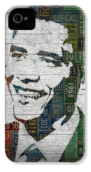 President Barack Obama Portrait United States License Plates Edition Two IPhone 4 Case by Design Turnpike