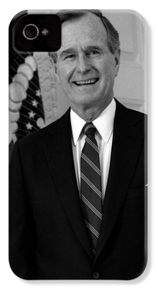 President George Bush Sr IPhone 4 / 4s Case by War Is Hell Store