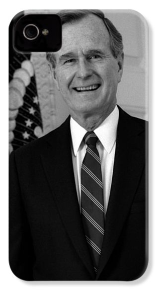 President George Bush Sr IPhone 4 Case by War Is Hell Store