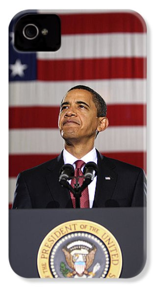 President Obama IPhone 4 Case by War Is Hell Store