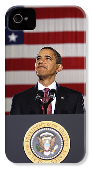 President Obama IPhone 4 / 4s Case by War Is Hell Store
