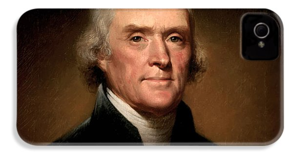 President Thomas Jefferson  IPhone 4 Case by War Is Hell Store