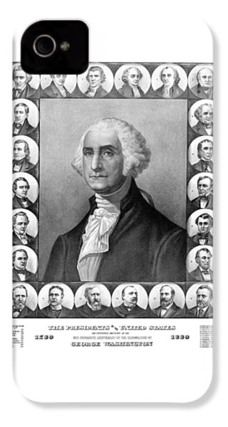 Presidents Of The United States 1789-1889 IPhone 4 Case by War Is Hell Store