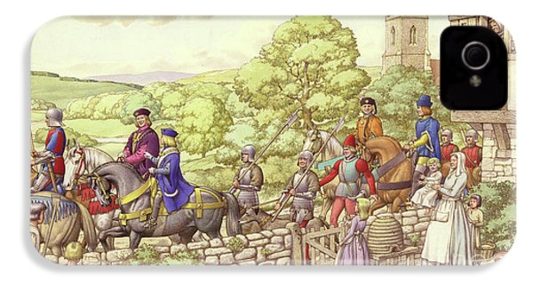 Prince Edward Riding From Ludlow To London IPhone 4 Case by Pat Nicolle