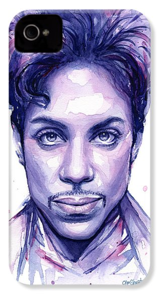 Prince Purple Watercolor IPhone 4 / 4s Case by Olga Shvartsur