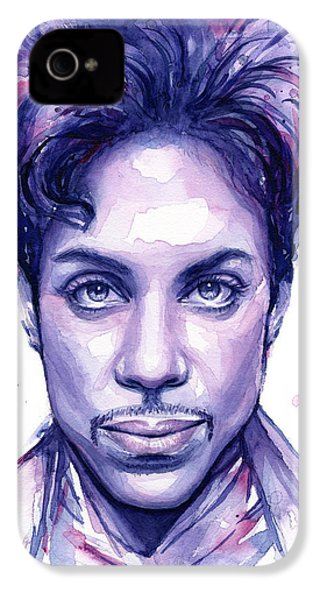 Prince Purple Watercolor IPhone 4 Case by Olga Shvartsur