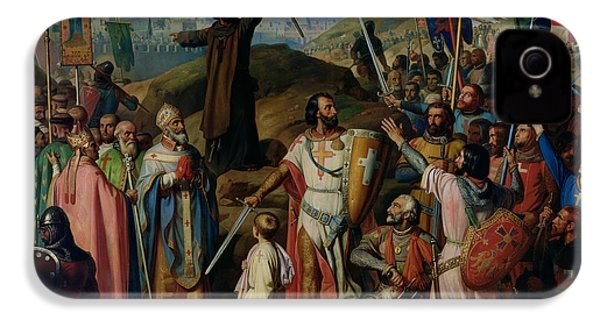 Procession Of Crusaders Around Jerusalem IPhone 4 / 4s Case by Jean Victor Schnetz