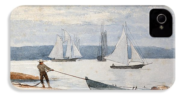 Pulling The Dory IPhone 4 Case by Winslow Homer