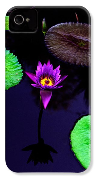 Purple Lily IPhone 4 Case by Gary Dean Mercer Clark