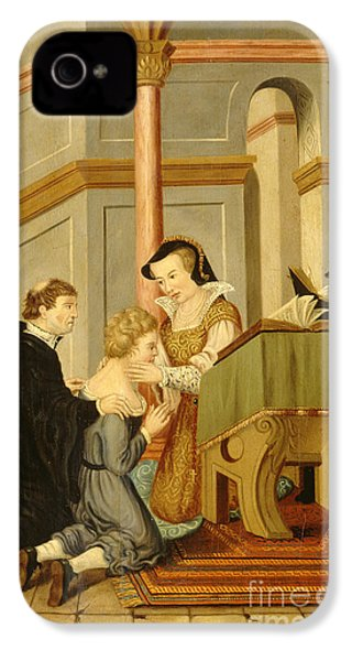 Queen Mary I Curing Subject With Royal IPhone 4 Case by Wellcome Images