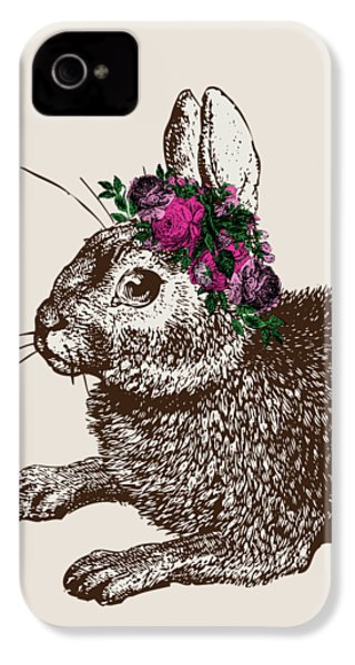 Rabbit And Roses IPhone 4 Case by Eclectic at HeART