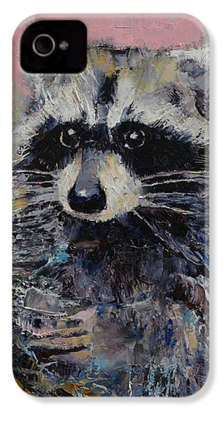 Raccoon IPhone 4 / 4s Case by Michael Creese