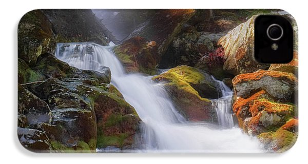 IPhone 4 Case featuring the photograph Race Brook Falls 2017 Square by Bill Wakeley