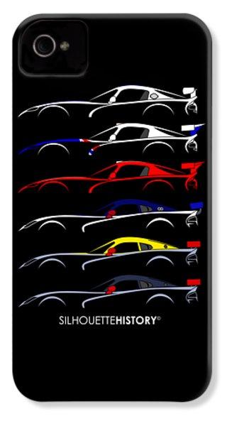 Racing Snake Silhouettehistory IPhone 4 Case by Gabor Vida