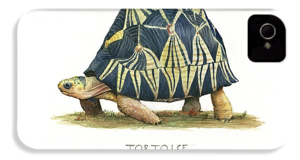 Radiated Tortoise  IPhone 4 Case by Juan Bosco