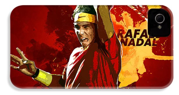 Rafael Nadal IPhone 4 / 4s Case by Semih Yurdabak