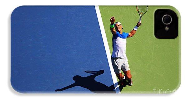 Rafeal Nadal Tennis Serve IPhone 4 Case by Nishanth Gopinathan