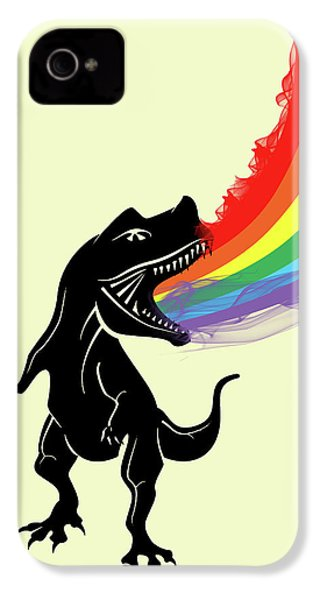 Rainbow Dinosaur IPhone 4 / 4s Case by Mark Ashkenazi
