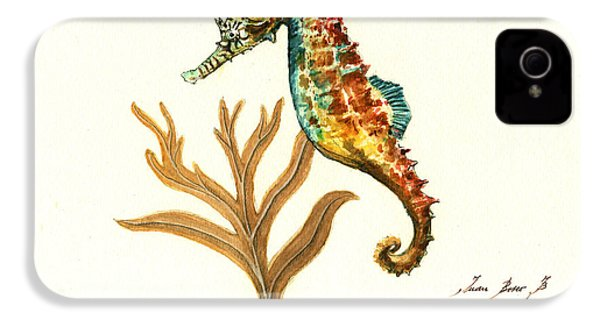 Rainbow Seahorse IPhone 4 Case by Juan Bosco