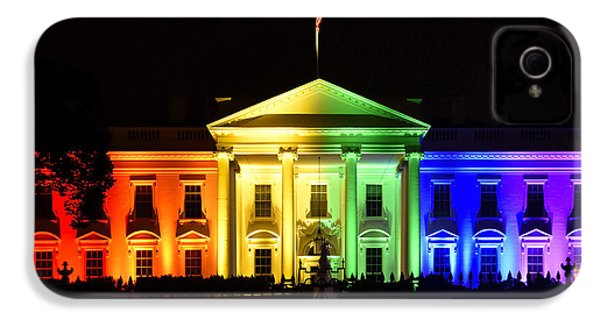 Rainbow White House  - Washington Dc IPhone 4 Case by Brendan Reals