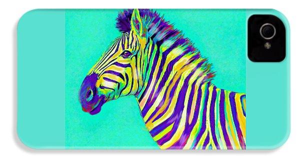 Rainbow Zebra 2013 IPhone 4 Case by Jane Schnetlage
