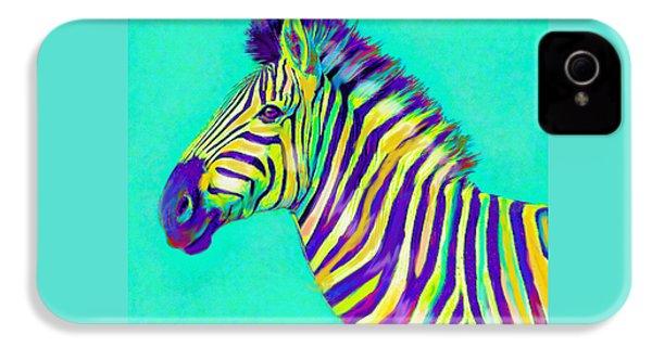 Rainbow Zebra 2013 IPhone 4 / 4s Case by Jane Schnetlage