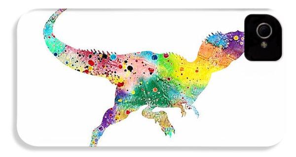 Raptor 2 Dinosaur Watercolor IPhone 4 Case by Svetla Tancheva