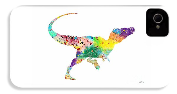 Raptor 2 Dinosaur Watercolor IPhone 4 Case by Svetla Tancheva