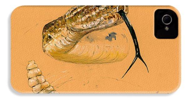 Rattlesnake Painting IPhone 4 Case