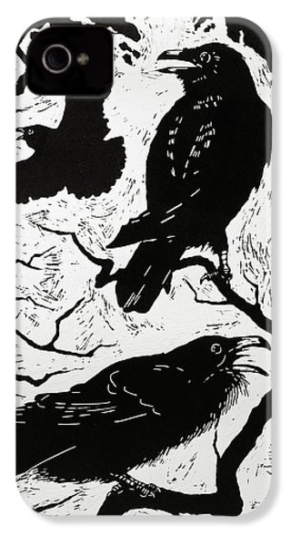 Ravens IPhone 4 Case by Nat Morley