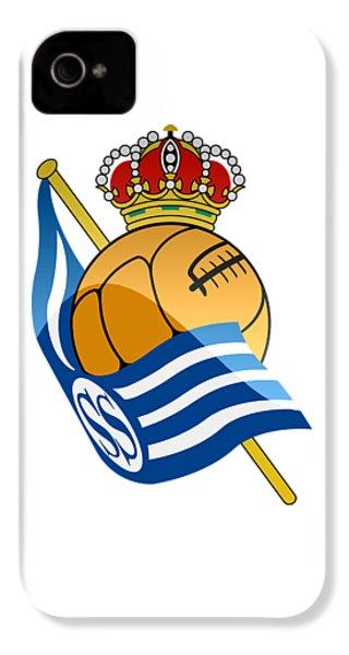 Real Sociedad De Futbol Sad IPhone 4 Case by David Linhart
