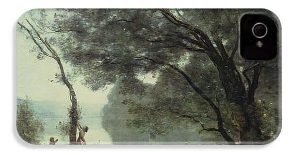 Recollections Of Mortefontaine IPhone 4 Case by Jean Baptiste Corot