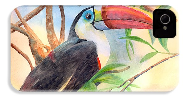 Red-billed Toucan IPhone 4 / 4s Case by Arline Wagner