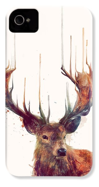 Red Deer IPhone 4 Case by Amy Hamilton