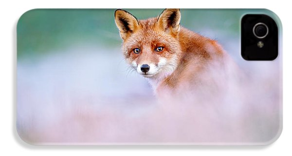 Red Fox In A Mysterious World IPhone 4 / 4s Case by Roeselien Raimond